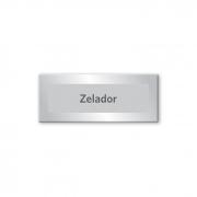 Placa Zelador - 15 x 6 cm - Prata