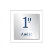 Placas de Numeração de Andar - Acrílico