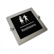 Placas para Banheiro Linha Especial - Alumínio Prateado