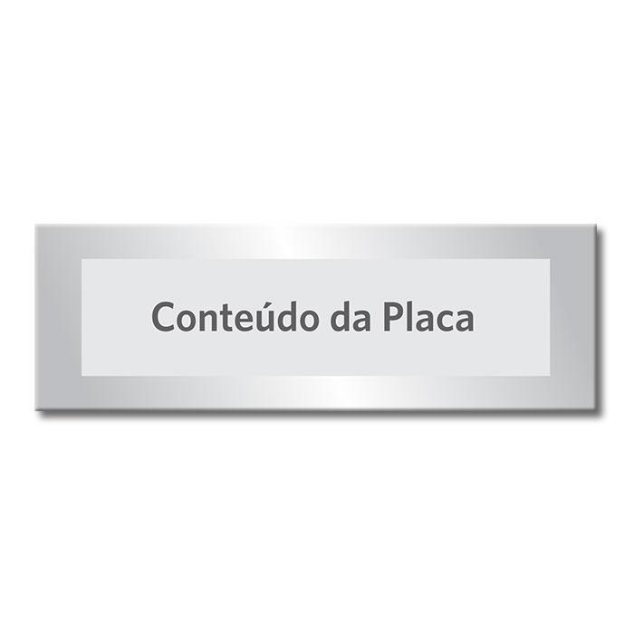 COMBO 2 - 03 placas em Alumínio Prata