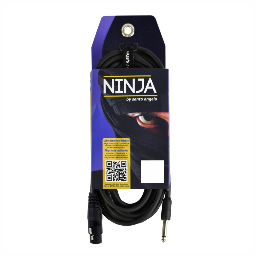 Cabo Santo Angelo Ninja 10ft HG XLR-P10 para Microfone - 3,05m