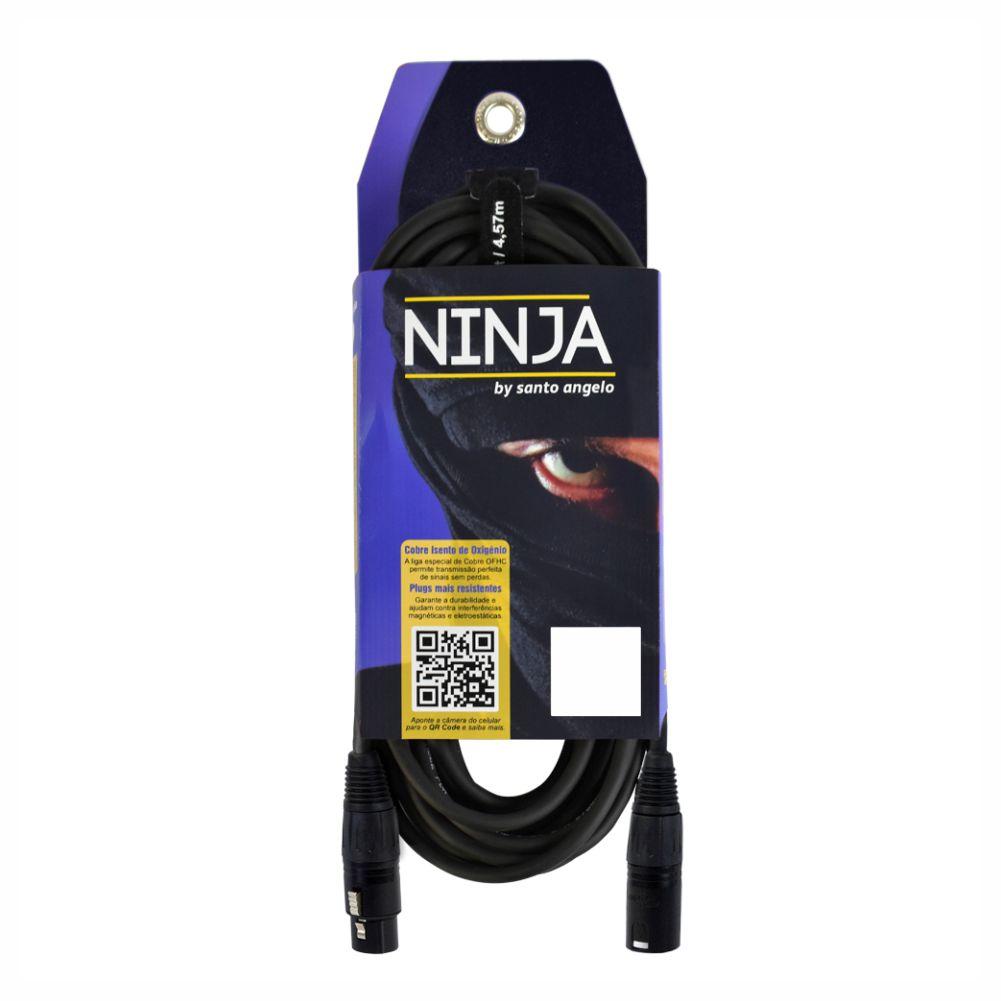 Cabo Santo Angelo Ninja 15ft LW XLR-XLR para Microfone - 4,57m