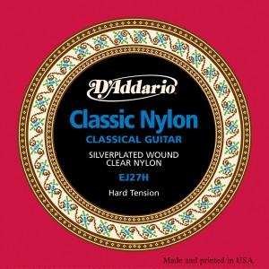 Encordoamento D'Addario EJ27H alta tensão para Violão Nylon