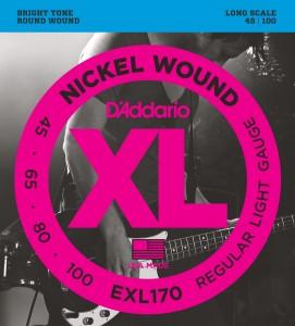 Encordoamento D'Addario EXL170 045 para Baixo 4 cordas