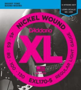 Encordoamento D'Addario EXL170-5 045 para Baixo 5 cordas