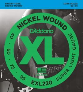 Encordoamento D'Addario EXL220 040 para Baixo 4 cordas