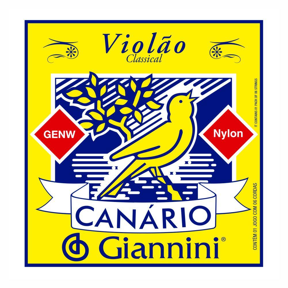 Encordoamento Giannini Canário GENW nylon para violão