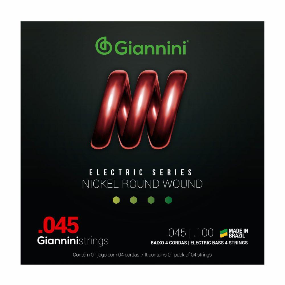 Encordoamento Giannini GEEBRS 045 Niquel para Baixo 4 cordas
