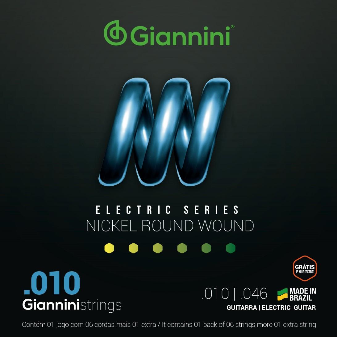 Encordoamento Giannini GEEST10 010 Niquel para Guitarra
