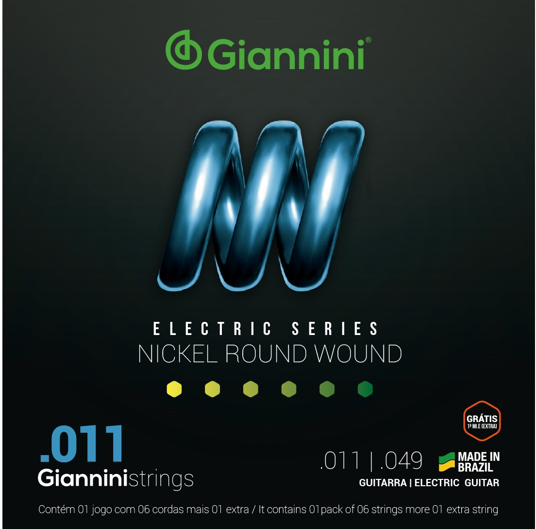 Encordoamento Giannini GEEST11 011 Niquel para Guitarra