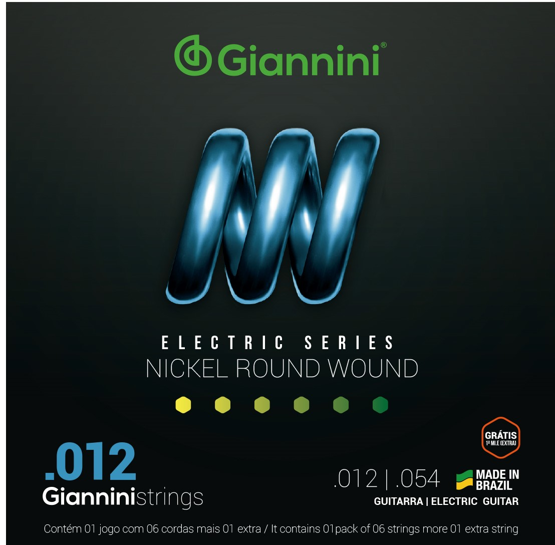 Encordoamento Giannini GEEST12 012 Niquel para Guitarra