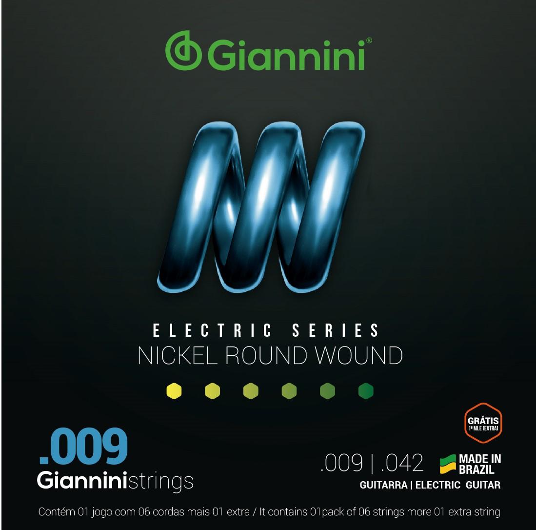 Encordoamento Giannini GEEST9 009 Niquel para Guitarra