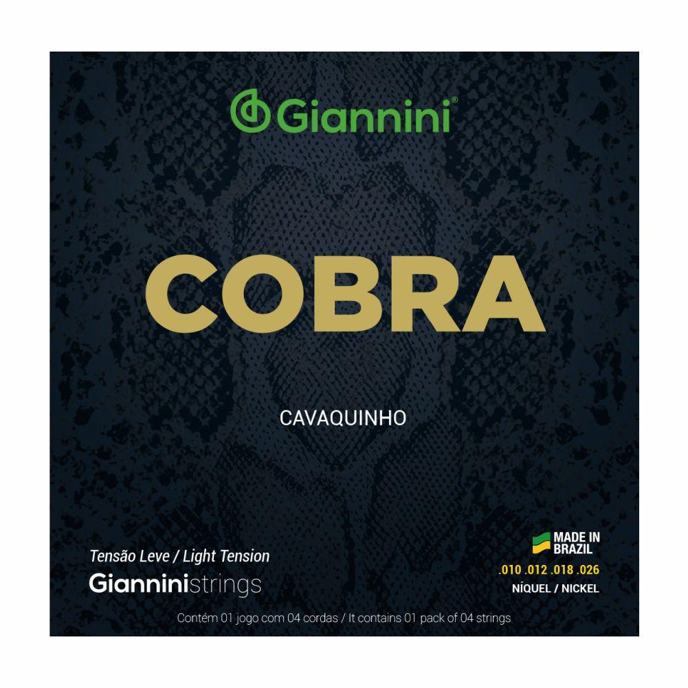 Encordoamento Giannini Cobra GESCL 010 Niquel tensão leve para Cavaquinho
