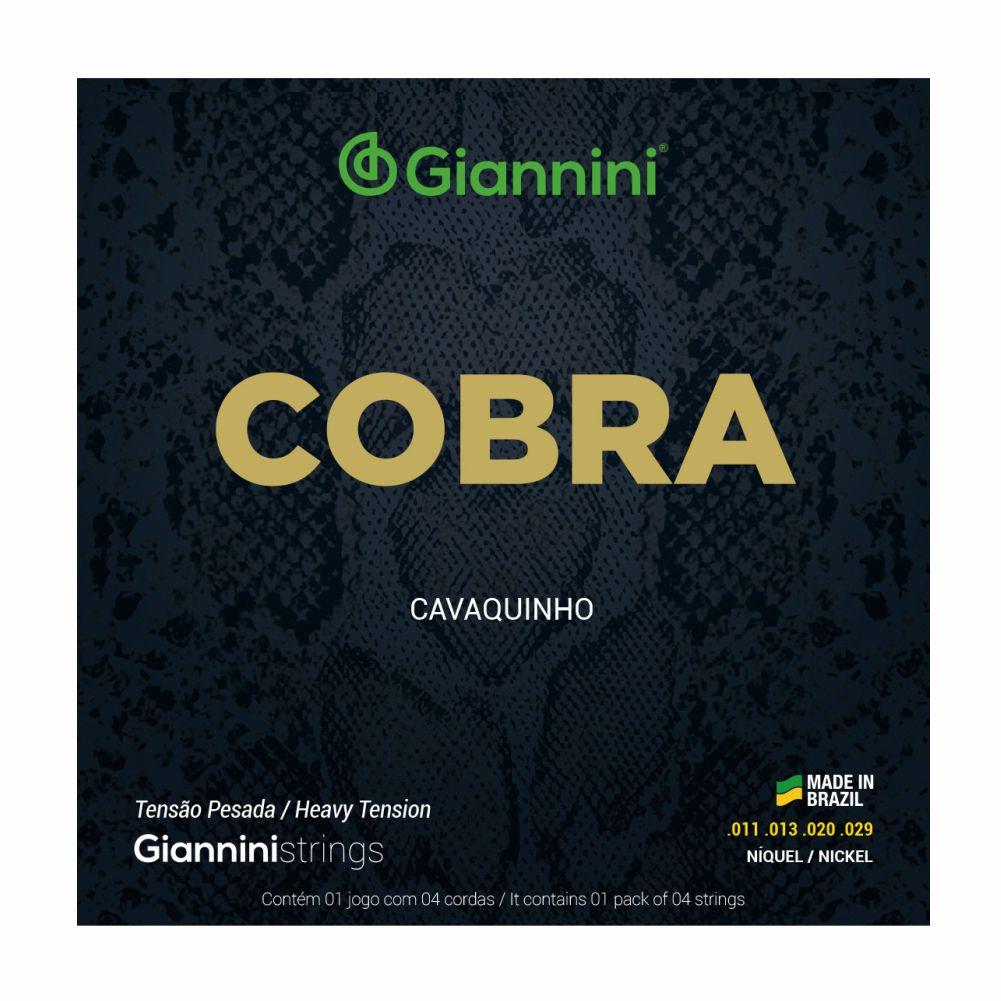 Encordoamento Giannini Cobra GESCP 011 Niquel tensão pesada para Cavaquinho