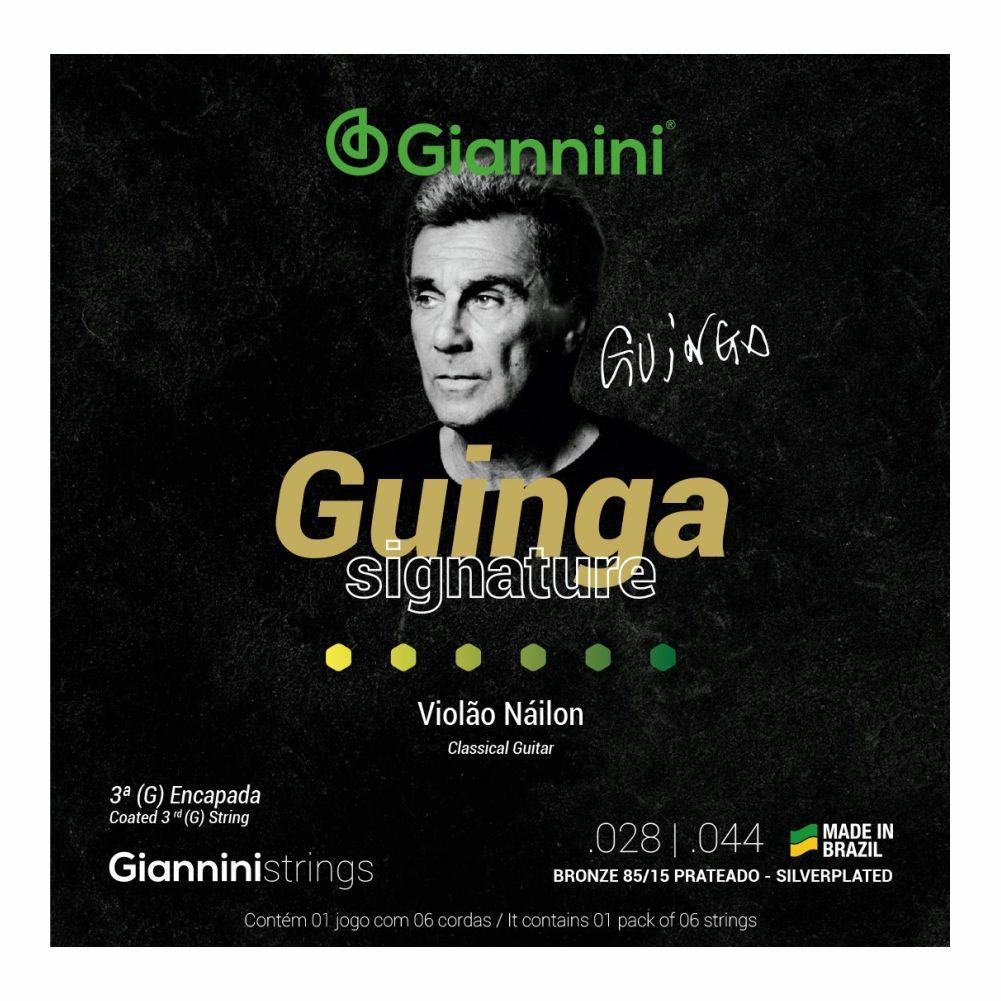 Encordoamento Giannini Signature SSCGG tensão alta Guinga - 3ª corda revestida