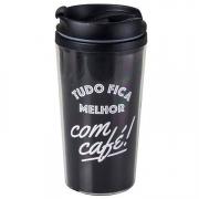 Copo térmico color - Tudo fica melhor com café
