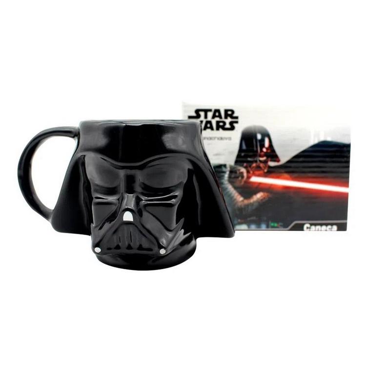Caneca Porcelana Formato 3d 500ml Darth Vader Star Wars