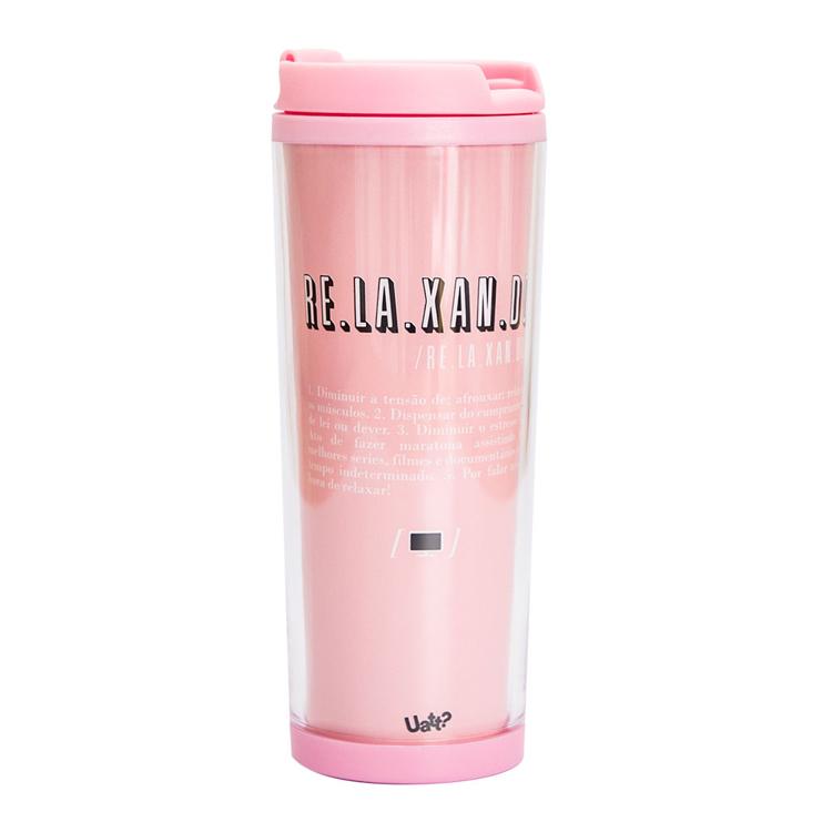Copo termico color - relax rosa