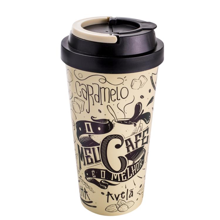 Copo Viagem C/ Alça No Meu Café Pode Tudo 470ml
