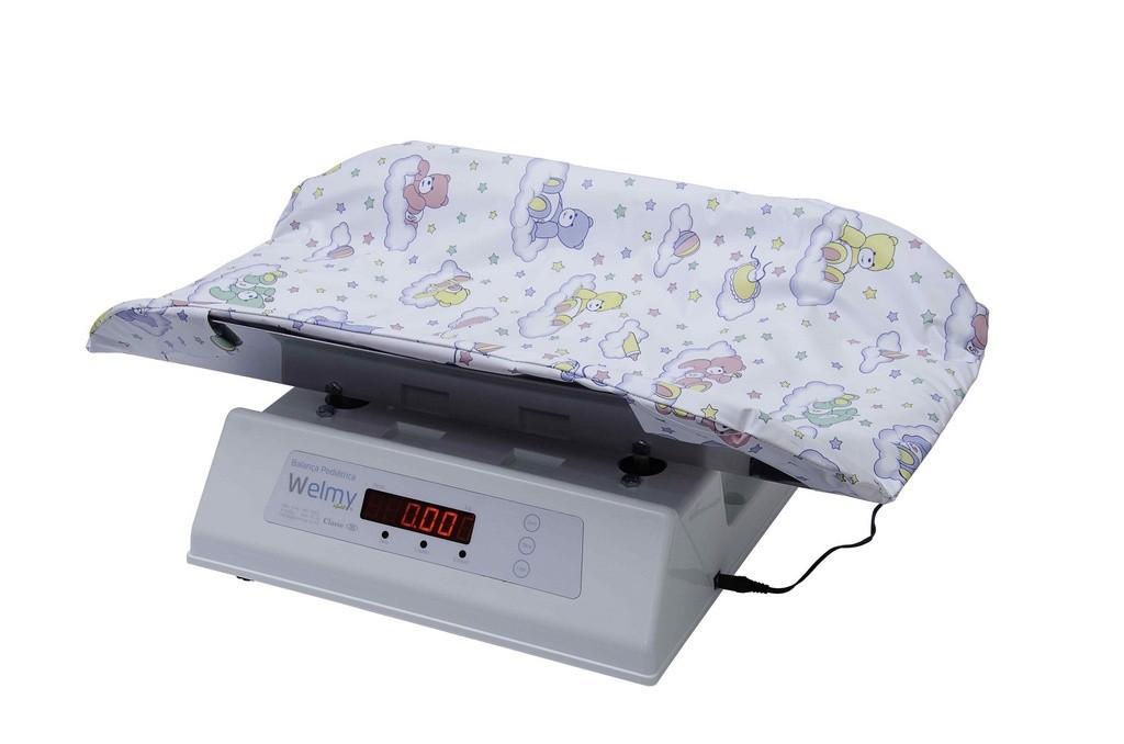 Balança Digital Infantil com Concha Inox C/ Capa 15 KG X 5 Gramas Led 109 EI - Welmy