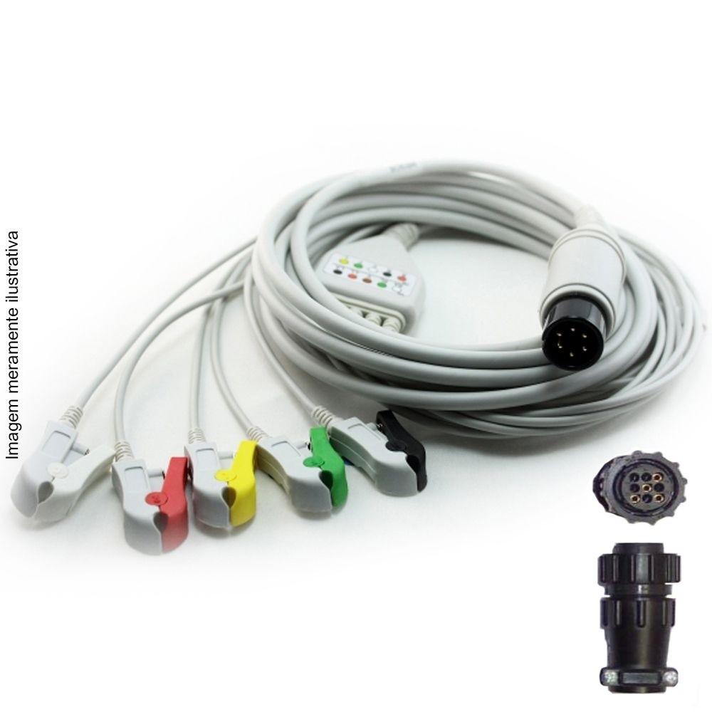 Cabo Paciente 5 Vias Compatível com BESE Tipo Neo Pinch Solda EPX-C505-NS - Vepex