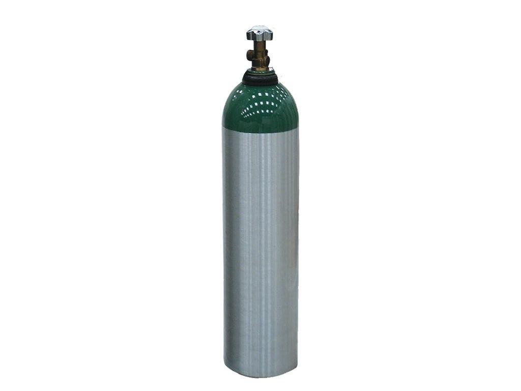 Cilindro de Alumínio Tipo E Vazio 5 Litros C/ Válvula - Protec
