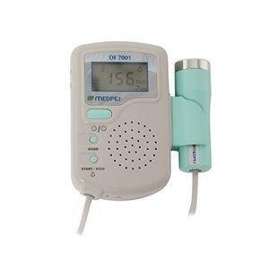 Detector Fetal Portátil Medpej DF 7001 D + Bateria Recarregável