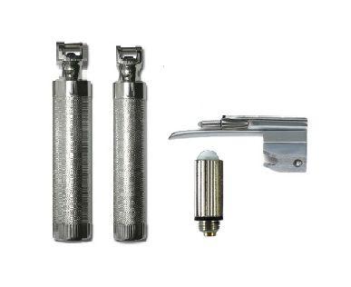 KIT Laringoscópio Fibra Ótica Cabo P/ 2 Pilhas 1 Lâmina Muller c/ LED  - Missouri