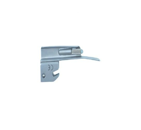 Lâmina de Aço Inox Convencional P/ Laringoscópio Reta 0 - Protec