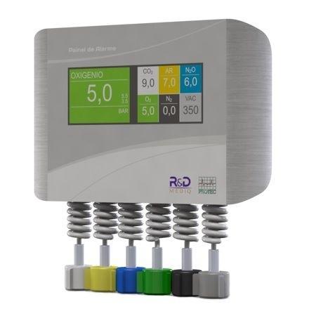 Painel de Alarme P/ Gases (06 gases) - R&D MEDIQ