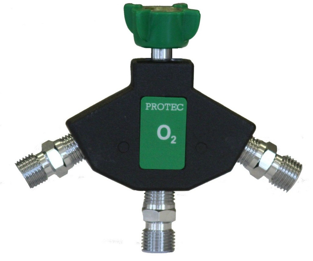 Tomada Tripla C/ Válvula Impacto P/ Oxigênio - Protec