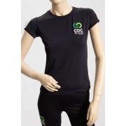 Camiseta feminina preta - Proteção UV50+