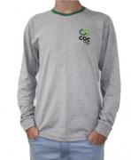Camiseta manga longa sem capuz - MASCULINA