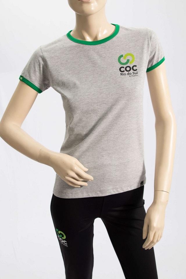 Camiseta feminina - CINZA