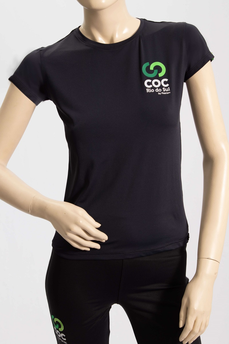 Camiseta infantil preta - Proteção UV50+