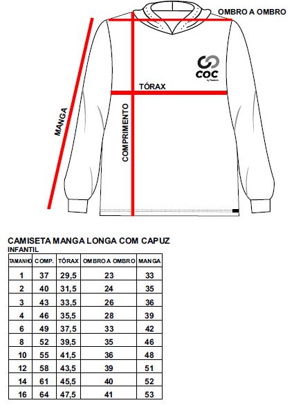 Camiseta manga longa com capuz - INFANTIL