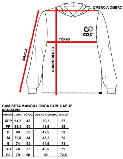 Camiseta manga longa com capuz - MASCULINA