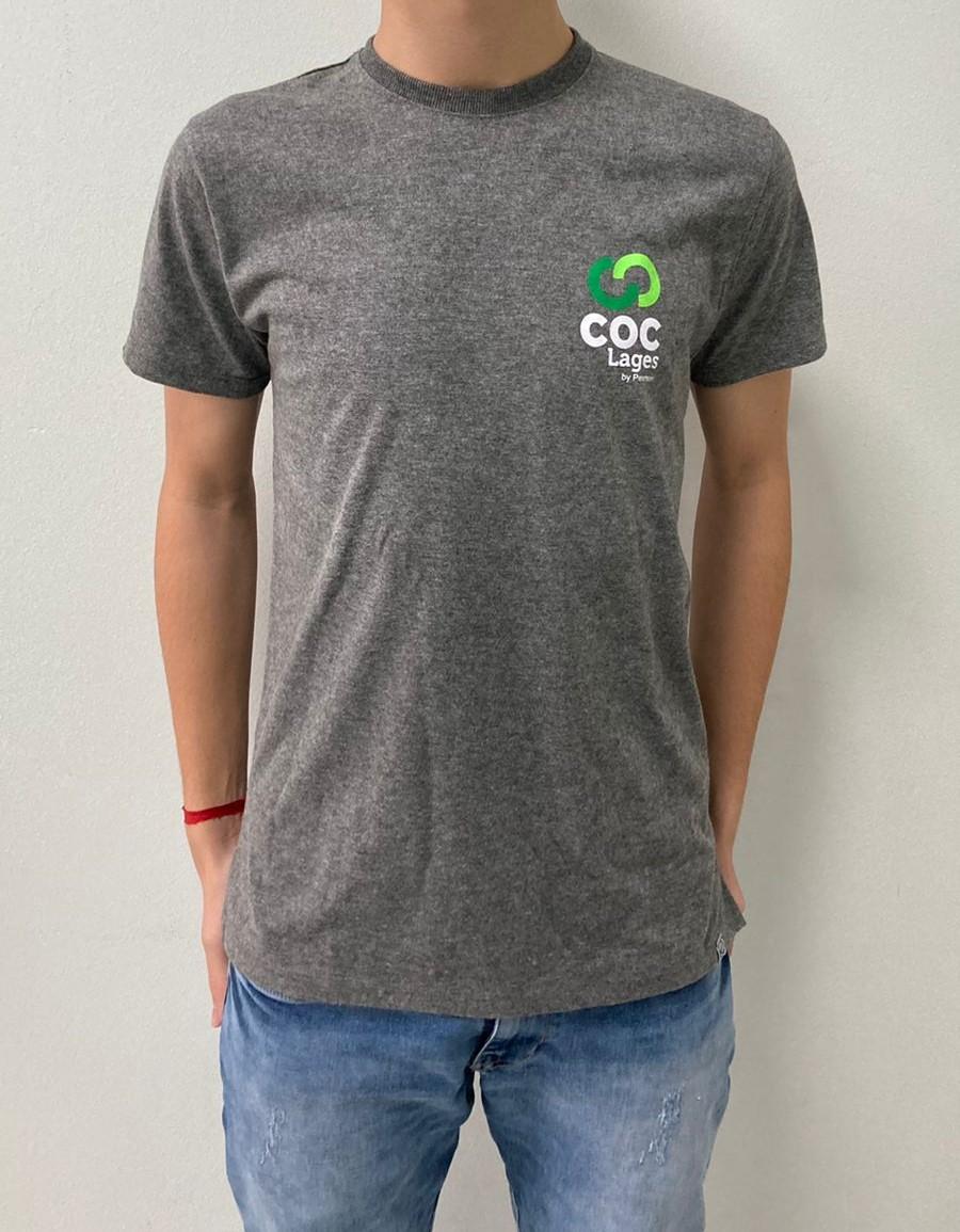 Camiseta mescla escura - MASCULINA