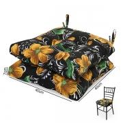 2 Almofadas para Assento de Cadeiras Lírio Amarelo