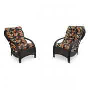 2 Cadeiras de Fibra com Almofadas Helicônia