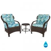 2 Cadeiras de Fibra Com Mesa e Almofadas Impermeáveis Tiffany