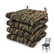 4 Almofadas para Assento de Cadeiras Bambu Escuro