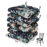6 Almofadas para Assento de Cadeiras Oceano