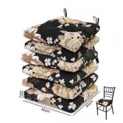 6 Almofadas para Assento de Cadeiras Zenaide Preta