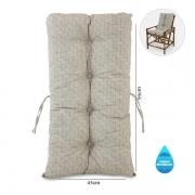 Almofada Impermeável Para Cadeiras de Bambu e Vime Bege