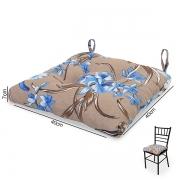 Almofada para Assento de Cadeira  Orquídea Azul