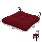 Almofada para Assento de Cadeira  Vermelha
