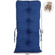 Almofada Para Cadeiras de Bambu e Vime Azul