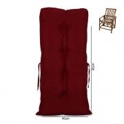 Almofada Para Cadeiras de Bambu e Vime Cores Lisa