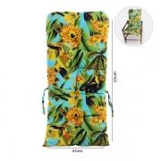 Almofada Para Cadeiras de Bambu e Vime Flor Amarela